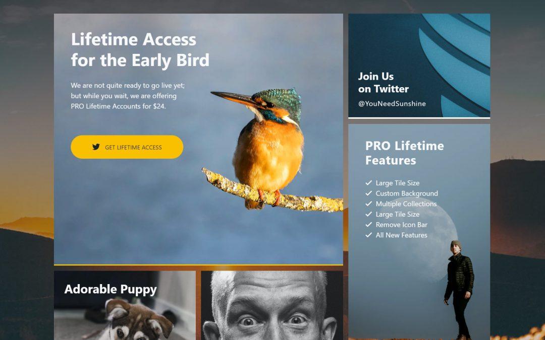 Sunshine Social: Early Bird Lifetime Access